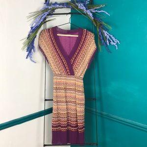 Missoni lightweight Italian chevron knit dress
